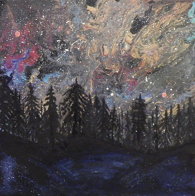 Aurora Mystical Forest II by Kristin Wilkinson