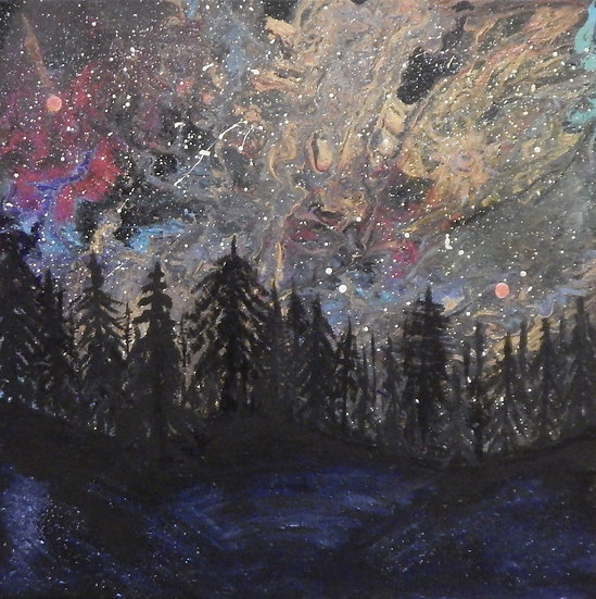 Aurora Mystical Forest II by Kristin Wilkinson