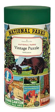 Cavallini &Co Vintage National Parks 1000 pc Puzzle