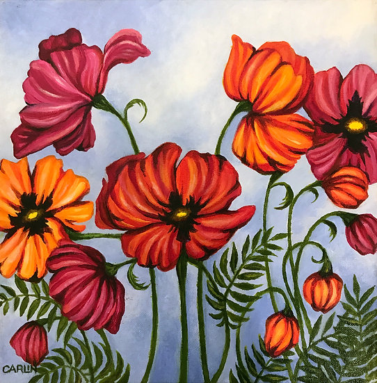 Red Poppies by Sue Carlin