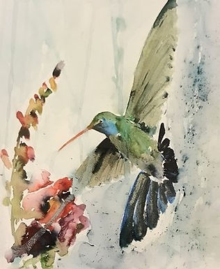 Kolibri & the Snapdragon by Jodie Apeseche - Giclee