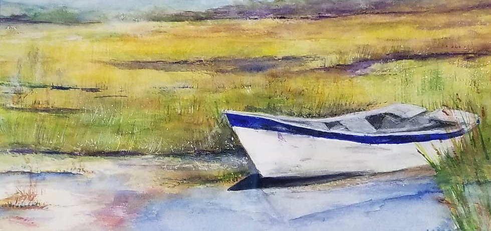 The Old Boat by Marie Cassata
