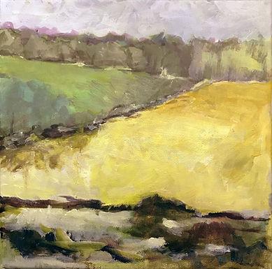 Hay Fields by Frank Bennett