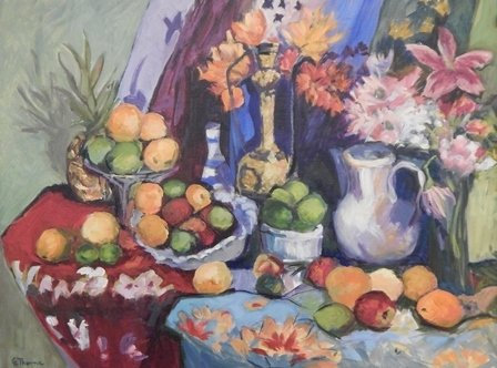 Still Life in the Style of Matisse by Grace Thorne