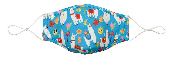 Reusable Kid's Face Mask by Snoozies! Llama - Two sizes