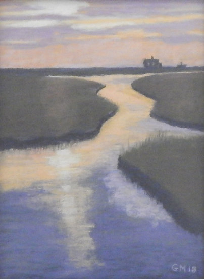 Marshland Sunset by Greg Michel