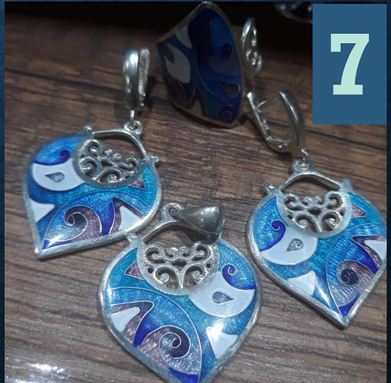Georgian Earring and Pendant set 7