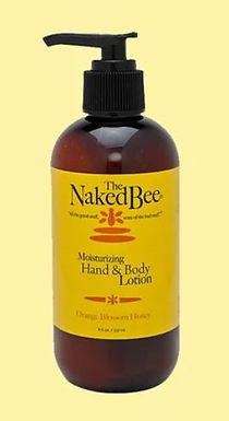 Naked Bee Hand and Body Lotion in 8 oz pump -Orange  Blossom Honey