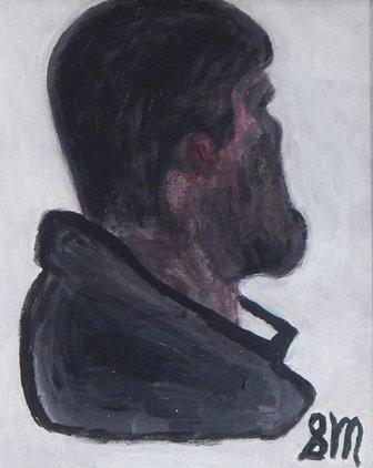 Portrait of an American Afghanistan Soldier by Sandra Merlini