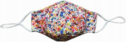 Reusable Face Mask by Snoozies! Paint Splatter