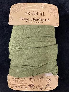 Karma Wide Headband - Olive