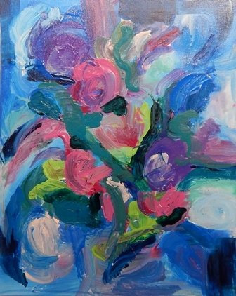 Bouquet of Roses by Pamela Malcuit
