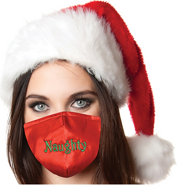 Reusable Face Mask by Snoozies! Naughty Christmas