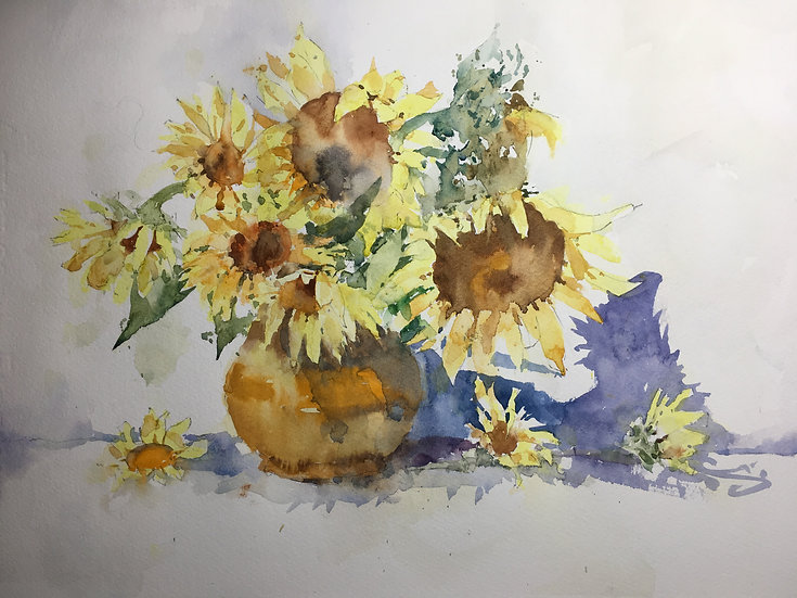 Zoom Online Watercolor Workshop with Michele Clamp- April 14th