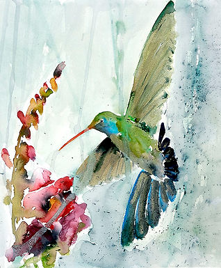 Kolibri and the Snapdragon by Jodie Apeseche