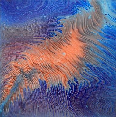 Paint Pour #19 by Jane Yates