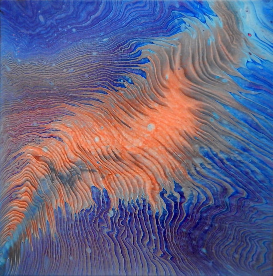 Paint Pour #19 by Jane Yates