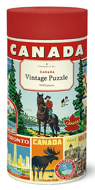 Cavallini & Co Vintage Canada 1000 pc Puzzle