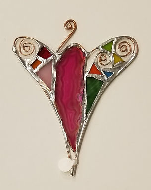 #12-4 1/4 x 5 1/2 Stained Glass Heart by Artesano Gallery