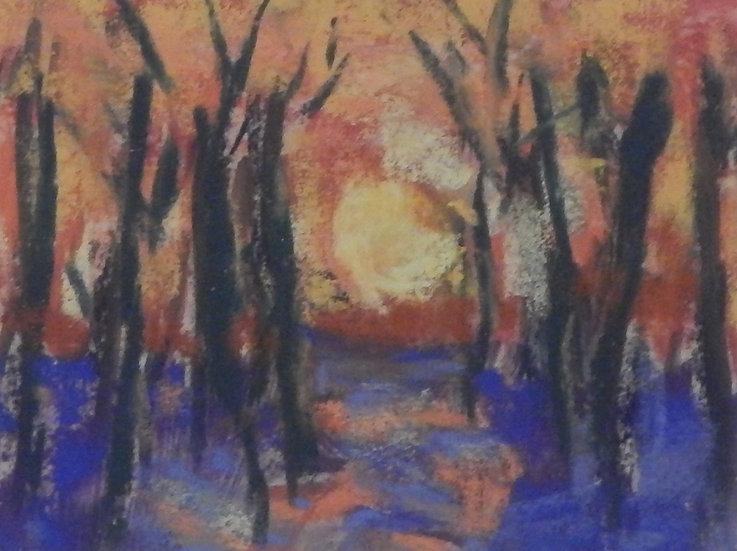 Snow Trees - Dusk by Jill Johnson