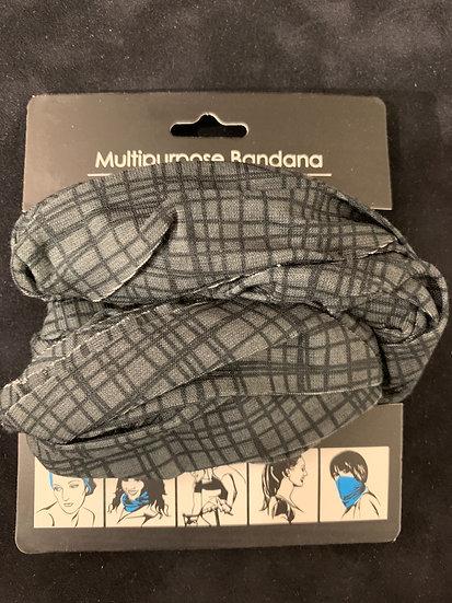Multipurpose Headband Black Lattice