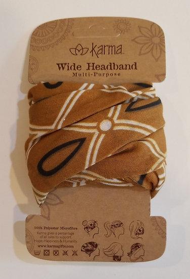 Karma Wide Headband - Mustard Deco