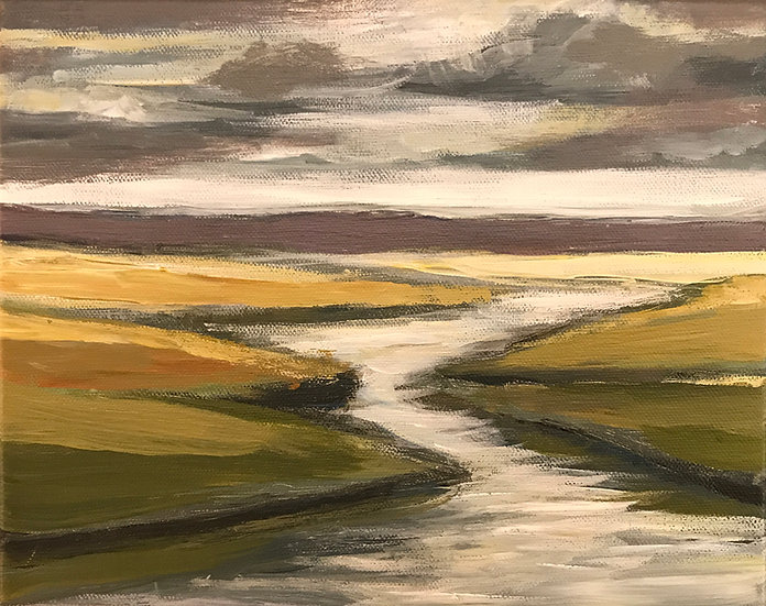 River Valley Landscape Series 5 by Bob Collins