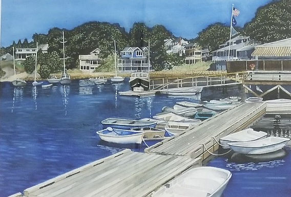 Resting on Perkins Cove by Bill Turner
