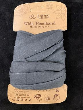 Karma Wide Headband - Grey