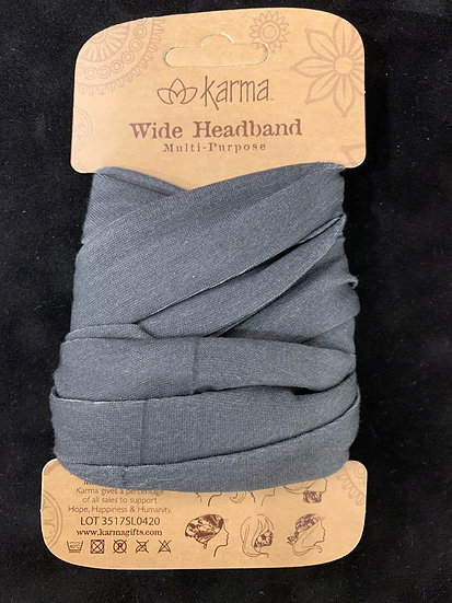 Karma Wide Headband - Grey