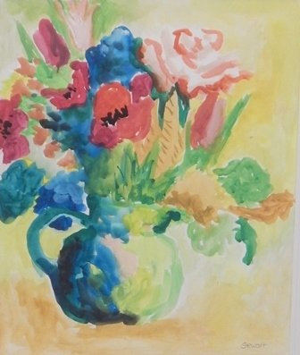 A Time to Paint with Color, III by Augusta Crocker Stewart