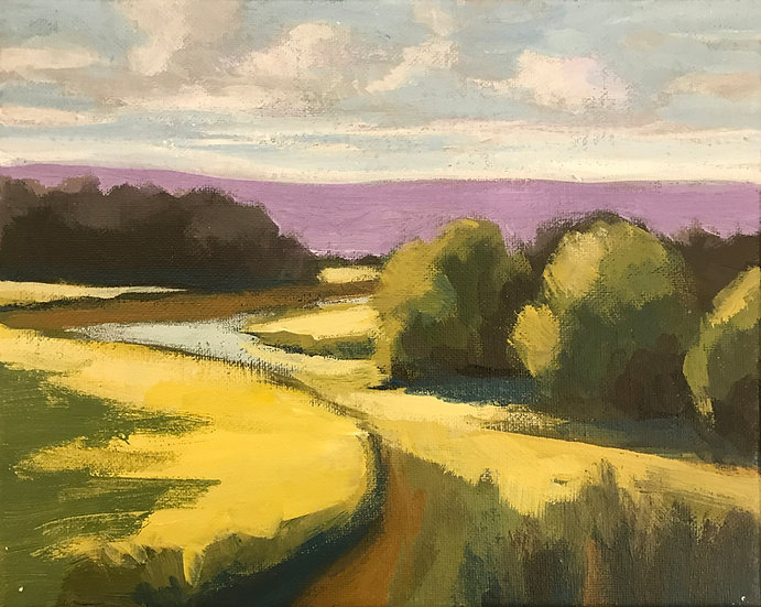 River Valley Landscape Series 3 by Bob Collins