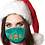 Thumbnail: Reusable Face Mask by Snoozies! Gingerbread Christmas