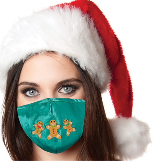 Reusable Face Mask by Snoozies! Gingerbread Christmas