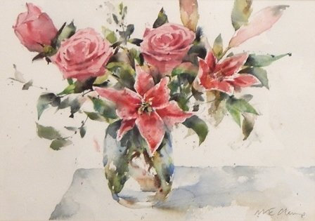 Roses and Lilies by Michele Clamp - Honorable Mention & People's Choice