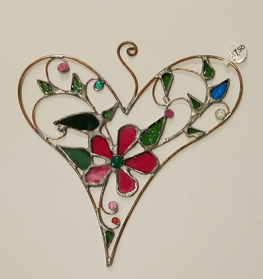 #5 Stained Glass Heart 7x7 by Artesano