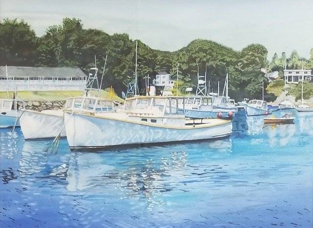 Reflecting Upon Perkins Cove by Bill Turner