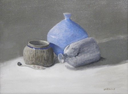 Blue Vase by Diana Gallo