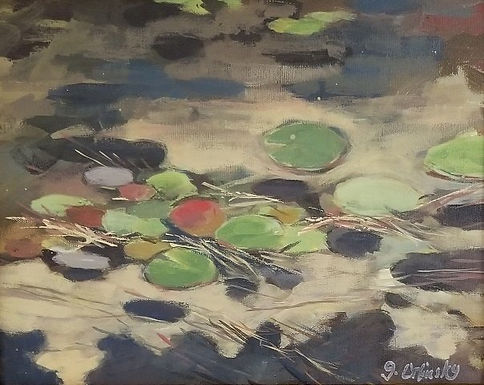 Peaceful Lilly Pads by Gillian Orlinsky
