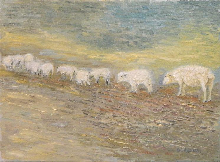 Sheep & Lamb by Diana Gallo