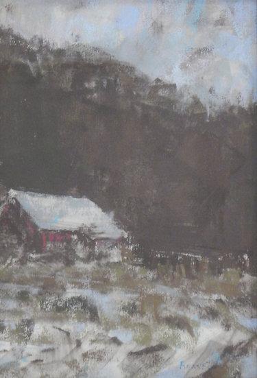 Winter Cornfield by Frank Bennett