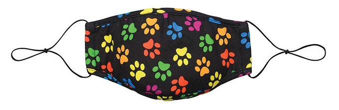 Reusable Kid's Face Mask by Snoozies! Paws, size M/L