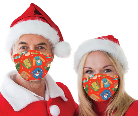 Reusable Face Mask by Snoozies! Christmas Sweaters