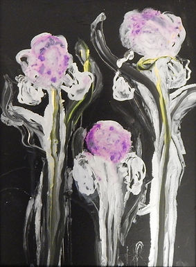 Abstract Iris by Helen Russell