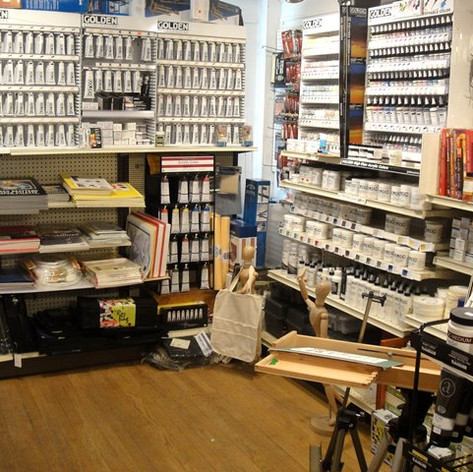 fully stocked with art supplies