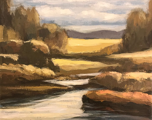River Valley Landscape Series 4 by Bob Collins