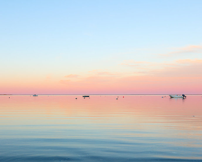 Chatham Harbor (on glass) by Roberta Anslow
