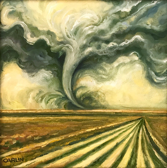 Tornado Over Cornfield by Sue Carlin
