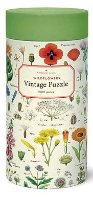 Cavallini  Vintage Wildflowers 1000 pc Puzzle