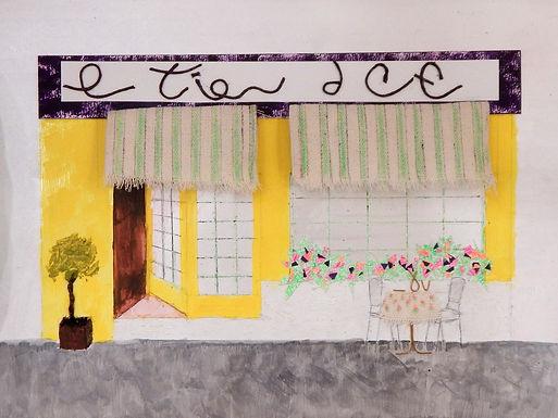 Cafe Scene by Jill Johnson